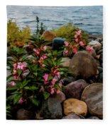 Rocky Shores Of Lake St. Clair- Michigan Fleece Blanket