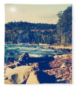 Rocky Shores Of Lake Superior Fleece Blanket