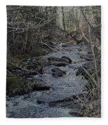 Rocky Stream Fleece Blanket