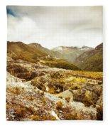Rocky Valley Mountains Fleece Blanket