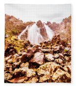 Rocky Water Wilderness Fleece Blanket