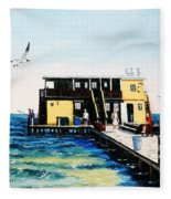 Rod And Reel Fishing Pier Fleece Blanket