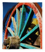 Rode Hard And Put Up - Wagon Wheel Rustic Country Rural Antique Fleece Blanket