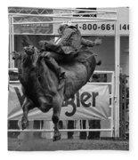 Rodeo Bull Riding 1 Fleece Blanket