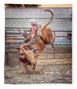 Rodeo Cowboy Fleece Blanket