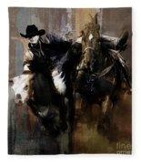 Rodeo Painting Fleece Blanket