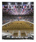 Rodeo Time In Texas Fleece Blanket