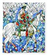 Rodeo Wrangler Mosaic Fleece Blanket