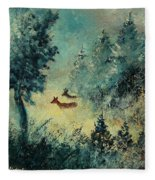 Roe Deers In September Morning Light Fleece Blanket