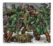 Rogers Rangers Fought A Hand-to-hand Battle In The Snow With The French And Indians Fleece Blanket
