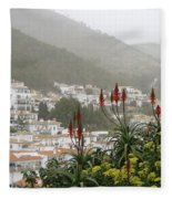 Rojo In The Pueblos Blancos Fleece Blanket