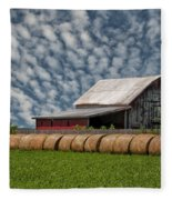 Rolled Up - Hay Rolls And Barn Fleece Blanket