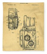 Rolleiflex Medium Format Twin Lens Reflex Tlr Patent Fleece Blanket