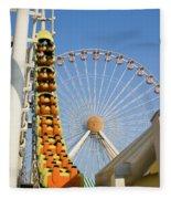 Roller Coaster And Ferris Wheel Fleece Blanket