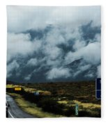 Rolling Fog Fleece Blanket