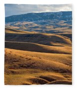 Rolling Foothills And The Bighorn Mountains Fleece Blanket