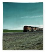 Rolling Freight Train Fleece Blanket