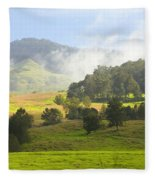 Rolling Green Hills Fleece Blanket