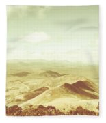 Rolling Rural Hills Of Zeehan Fleece Blanket