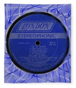 Rolling Stones Let It Bleed Lp Label Fleece Blanket