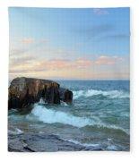 Rolling Waves On Superior Fleece Blanket