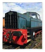 Rolls Royce Sentinel Dl83 Diesel Shunter At The Nene Valley Railway Fleece Blanket