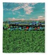 Romaine Lettuce Harvest Fleece Blanket