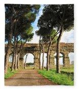 Roman Aqueducts Fleece Blanket