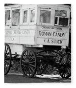Roman Candy - Bw Fleece Blanket