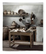Roman Kitchen, 100 A.d Fleece Blanket