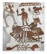 Roman Mosaic: 5th Century Fleece Blanket