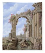 Roman Ruins Fleece Blanket