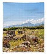 Roman Villa Ruins On Crete Fleece Blanket