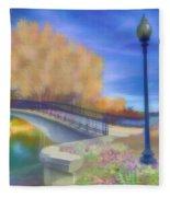 Romance At Elizabeth Park Bridge Fleece Blanket