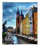 Romance In Krakow Fleece Blanket