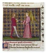 Romance Of The Rose Fleece Blanket