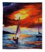 Romancing The Sail Fleece Blanket