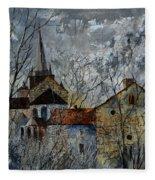 Romanesque Church  Fleece Blanket