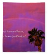 Romans 4 Fleece Blanket