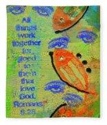 Romans 8 28 Fleece Blanket