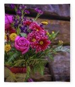 Romantic Bouquet 3 Fleece Blanket