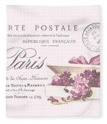 Romantic French Victorian Postcard Fleece Blanket