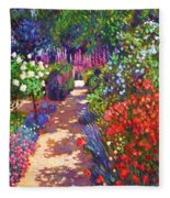 Romantic Garden Walk Fleece Blanket