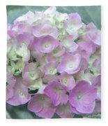 Romantic Pink Hydrangea Fleece Blanket