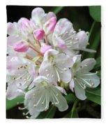 Romantic Rhododendron Fleece Blanket