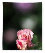 Romantic Rose Bud Fleece Blanket