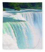 Romantic Skies Niagara Falls 2  Fleece Blanket
