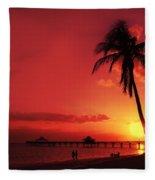 Romantic Sunset Fleece Blanket