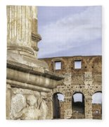 Rome Arch Of Titus Sculpture Detail Fleece Blanket