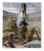 Rome: Christian Martyrs Fleece Blanket